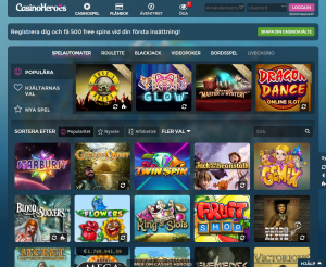 casino-heroes-spelutbud