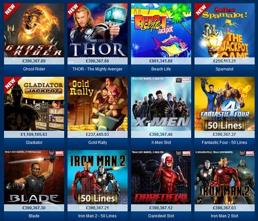 Playtech Marvel Spelautomater
